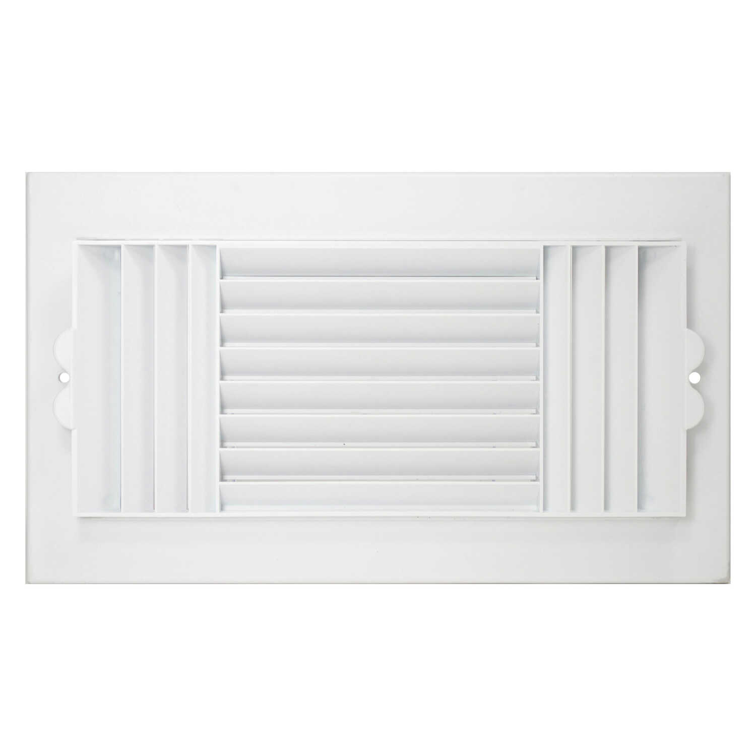 Deflect-O  Jordan  12 in. H x 6 in. W 3-Way  White  Plastic  Ceiling Register