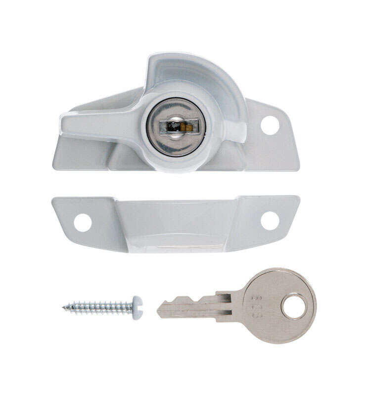 Ace  White  Brass  Keyed Sash Lock  1 pk