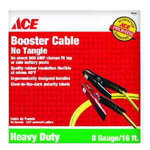 Ace  16 ft. 8 Ga. Jumper Cable  275 amps