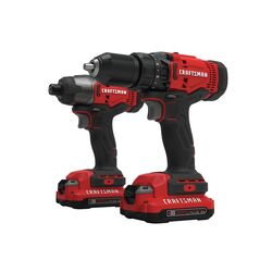 Craftsman V20 MAX 20 volt Cordless Brushed 2 tool Drill/Driver and Impact Driver Kit