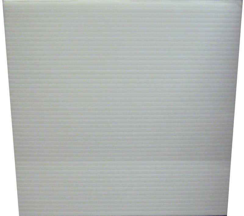 Plaskolite Single Corrugated Plastic Sheet 24 In W X 48 In L X