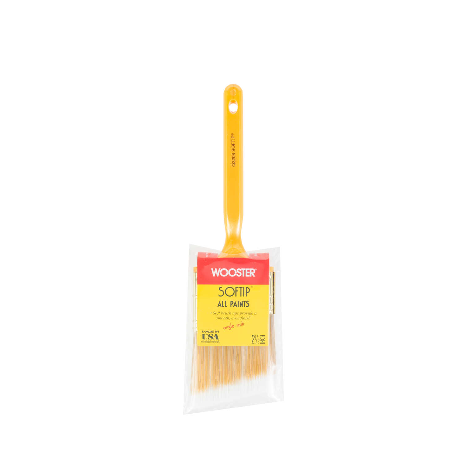 Wooster  Softip  2 1/2 in. W Synthetic Blend  Trim Paint Brush  Angle