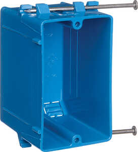 Carlon  3-3/4 in. 1 Gang  1 gang Rectangle  Blue  Outlet Box  PVC