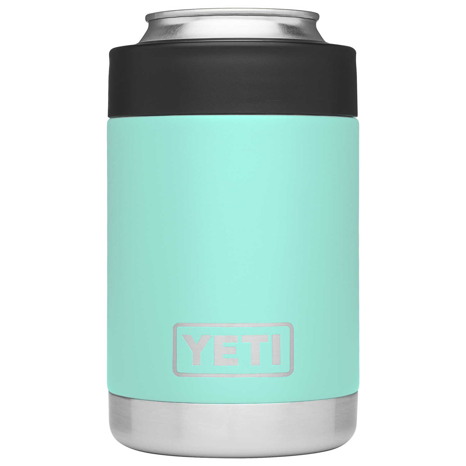YETI  Rambler Colster  Seafoam Green  Stainless Steel  BPA Free 12  Beverage Holder