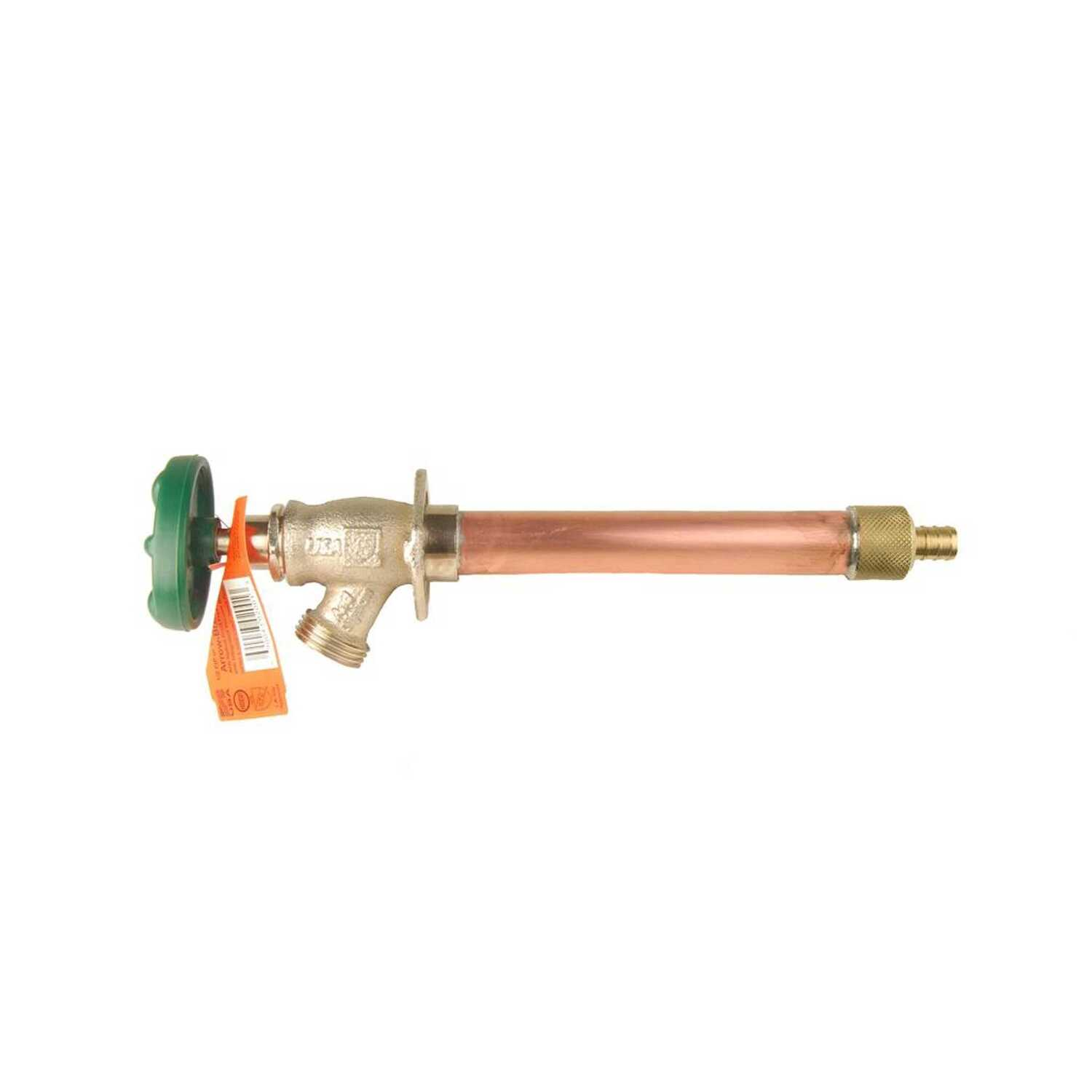 Arrowhead  11 L. in. Brass  Frost-Proof Wall Hydrant