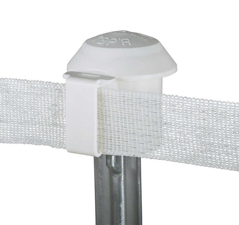 Dare Products  Electric-Powered  T-Post Safety Cap and Insulator  White