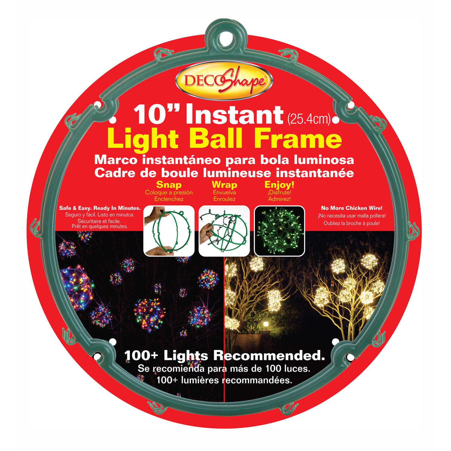 Keystone  Ball Frame  Light Holders  Green  Polypropylene  1 pk