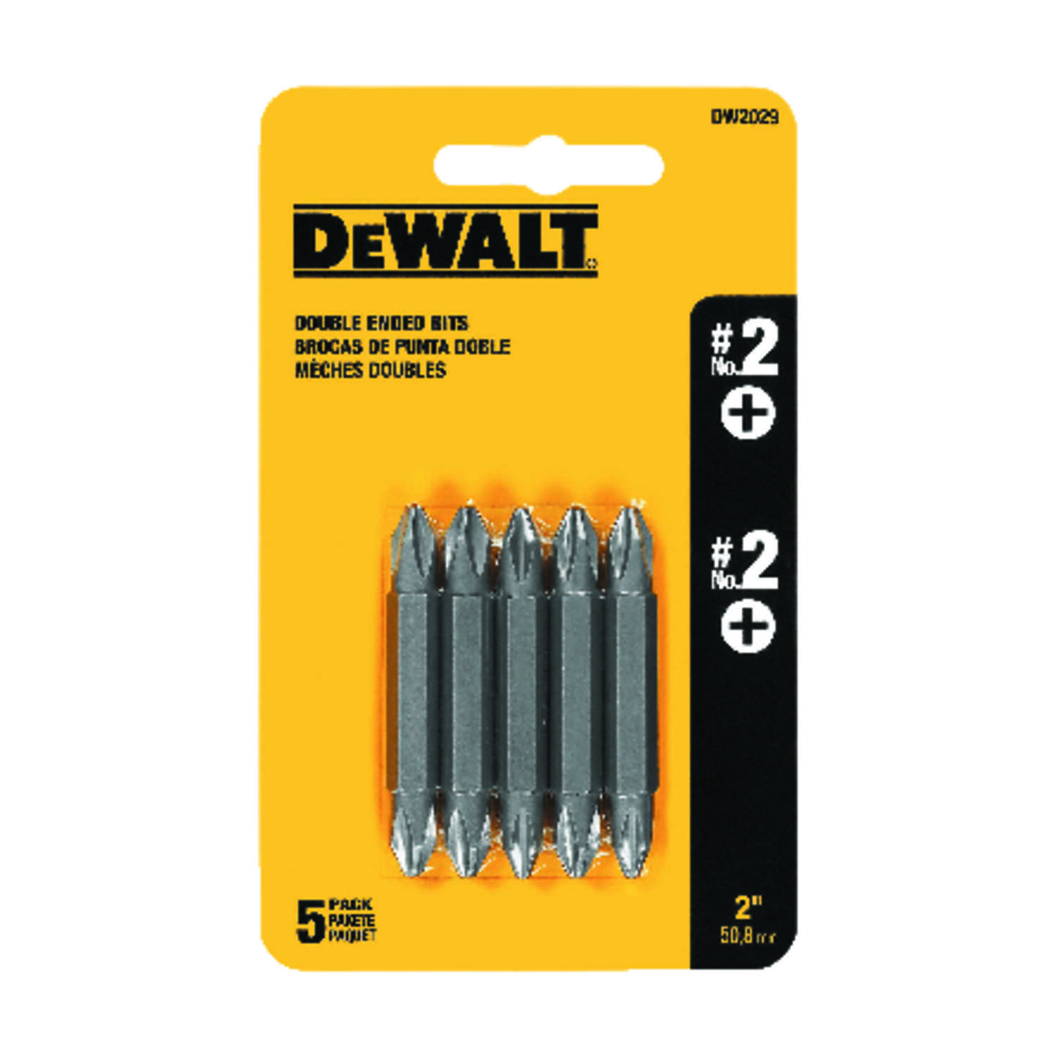 DeWalt  2 in. L Power Screwdriver Bit  Heat-Treated Steel  5 pc.