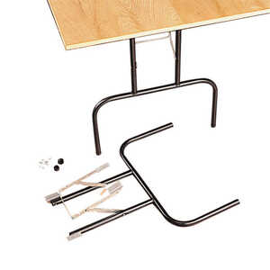 Waddell Folding Banquet Table Legs 29 in. x 24 in. Black