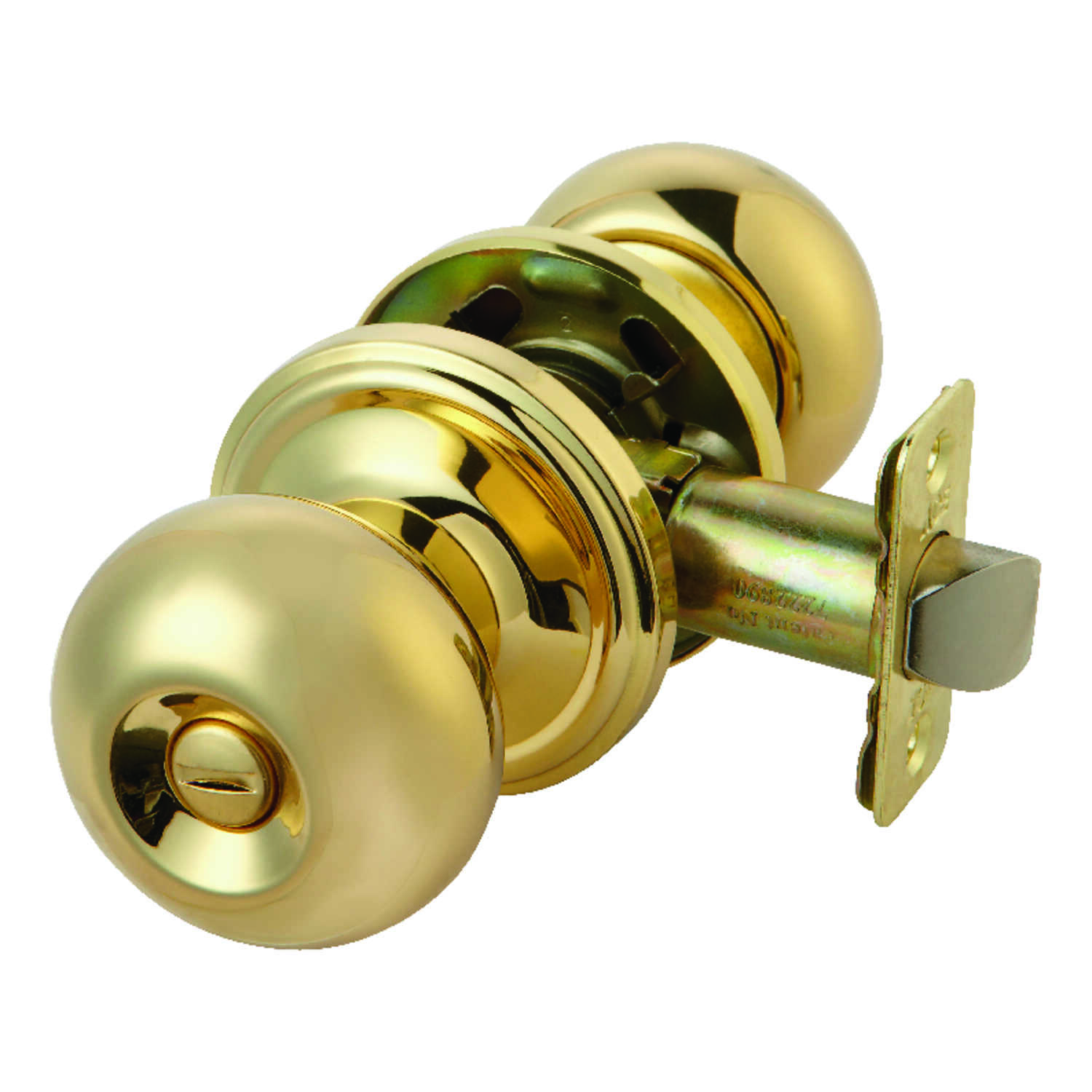 Ace  Colonial  Polished Brass  Steel  Privacy Knob  3 Grade