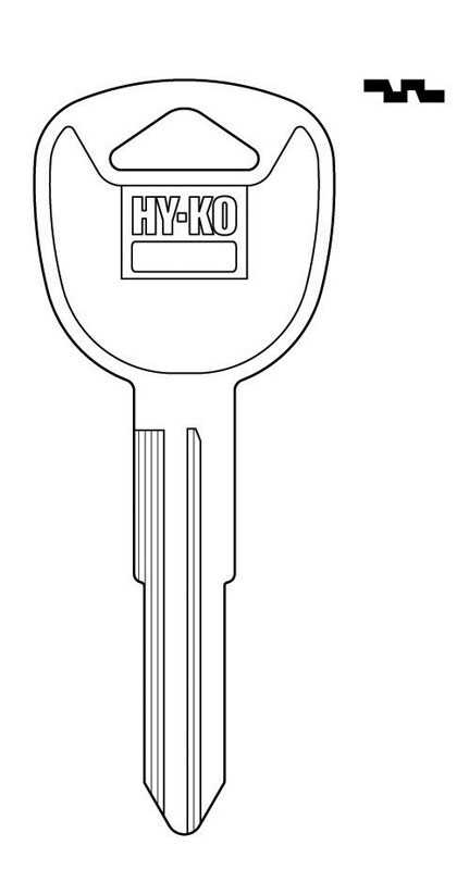 Hy-Ko  Automotive  Key Blank  EZ# KK1  Double sided For Fits 1990 and Older Ignitions