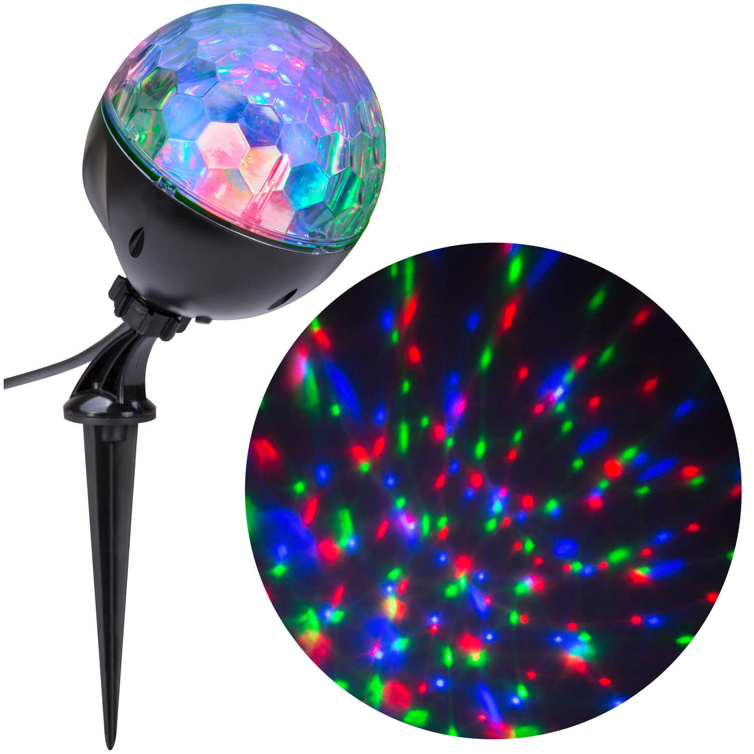 Gemmy  LED  Confetti  Light Show Projector  Multicolored