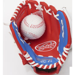 Rawlings  Player Series  Red  Vinyl  Right-handed  Baseball Glove  9 in.  1 pk