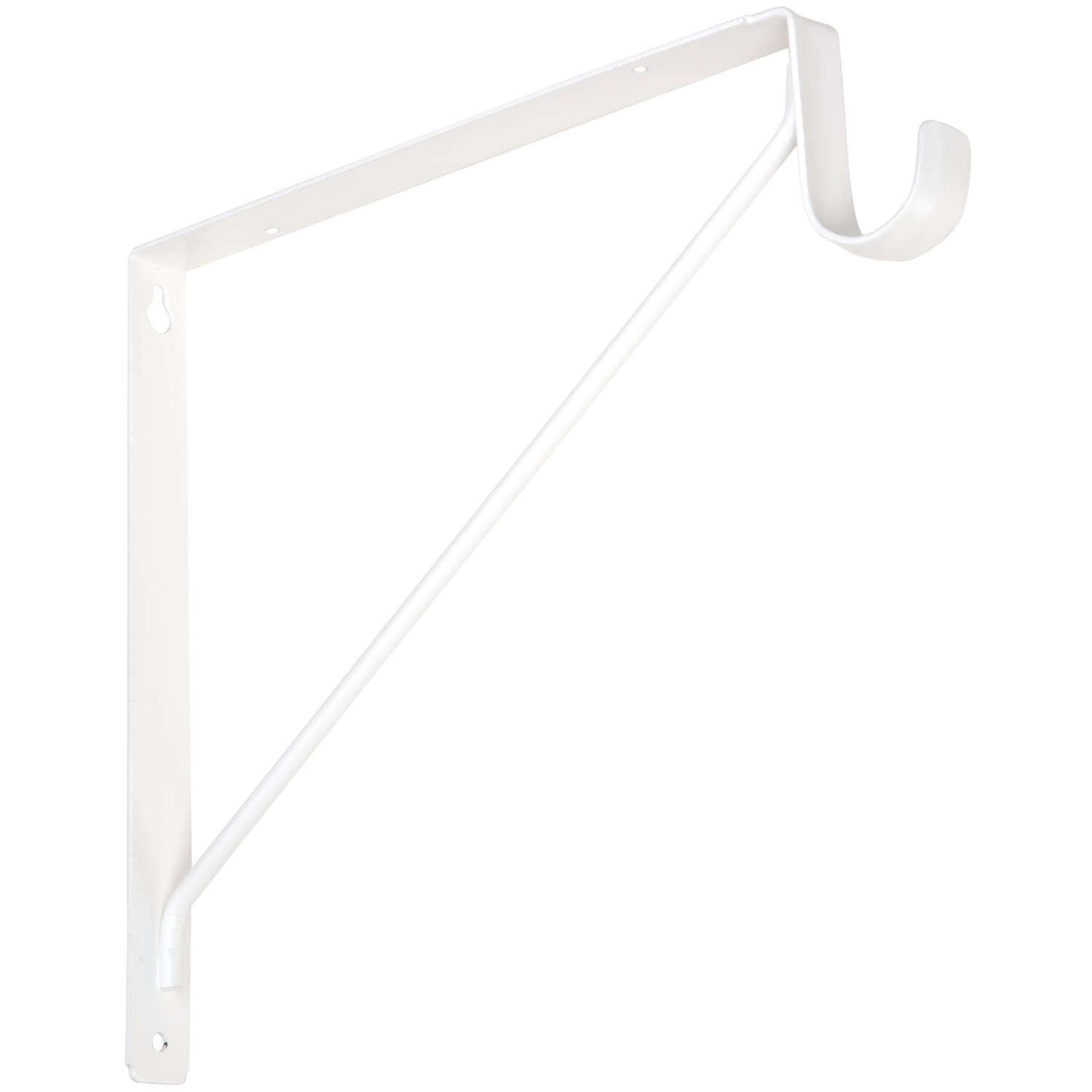 National Hardware White Steel Shelf/Rod Bracket 12.45 in. L 125 lb.