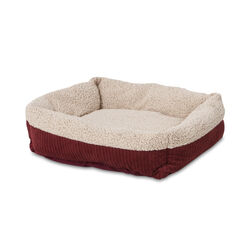 Aspen Pet  Multicolored  Sheepskin  Self Warming Pet Bed  7 in. H x 20 in. W x 24 in. L