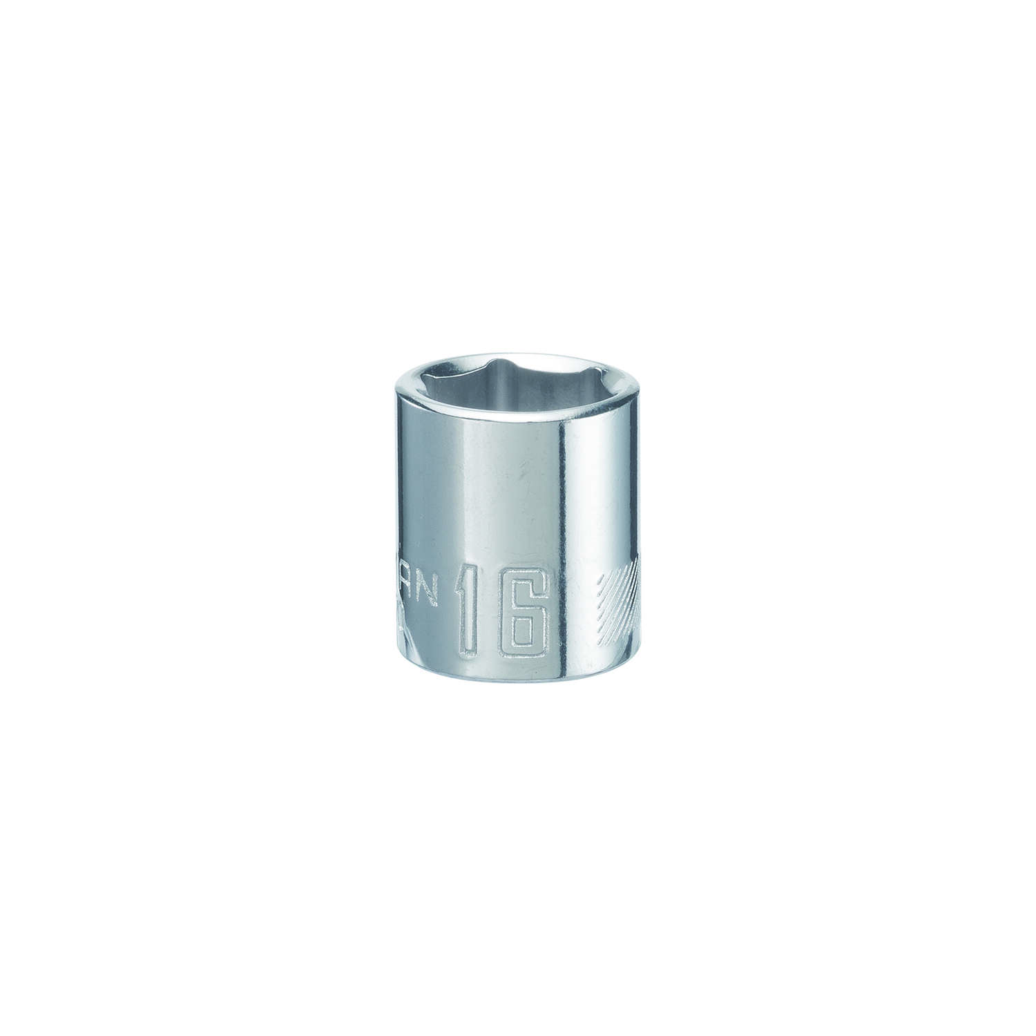 Craftsman  16 mm  x 3/8 in. drive  Metric  6 Point Standard  Shallow Socket  1 pc.