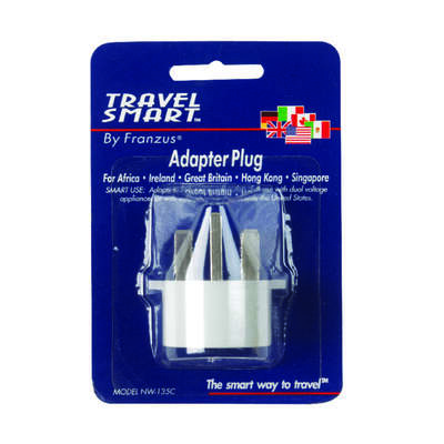 Travel Smart  Type G  For Worldwide Adapter Plug In