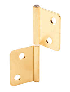 Prime-Line  3 in. L Brass-Plated  Door Hinge  2 pk