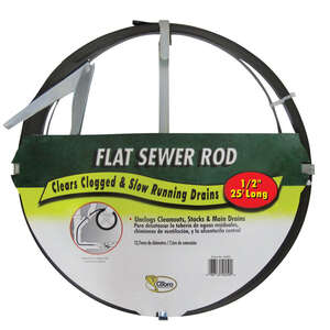 Cobra  1/2 in. Flat Steel Sewer Rod  25 ft.