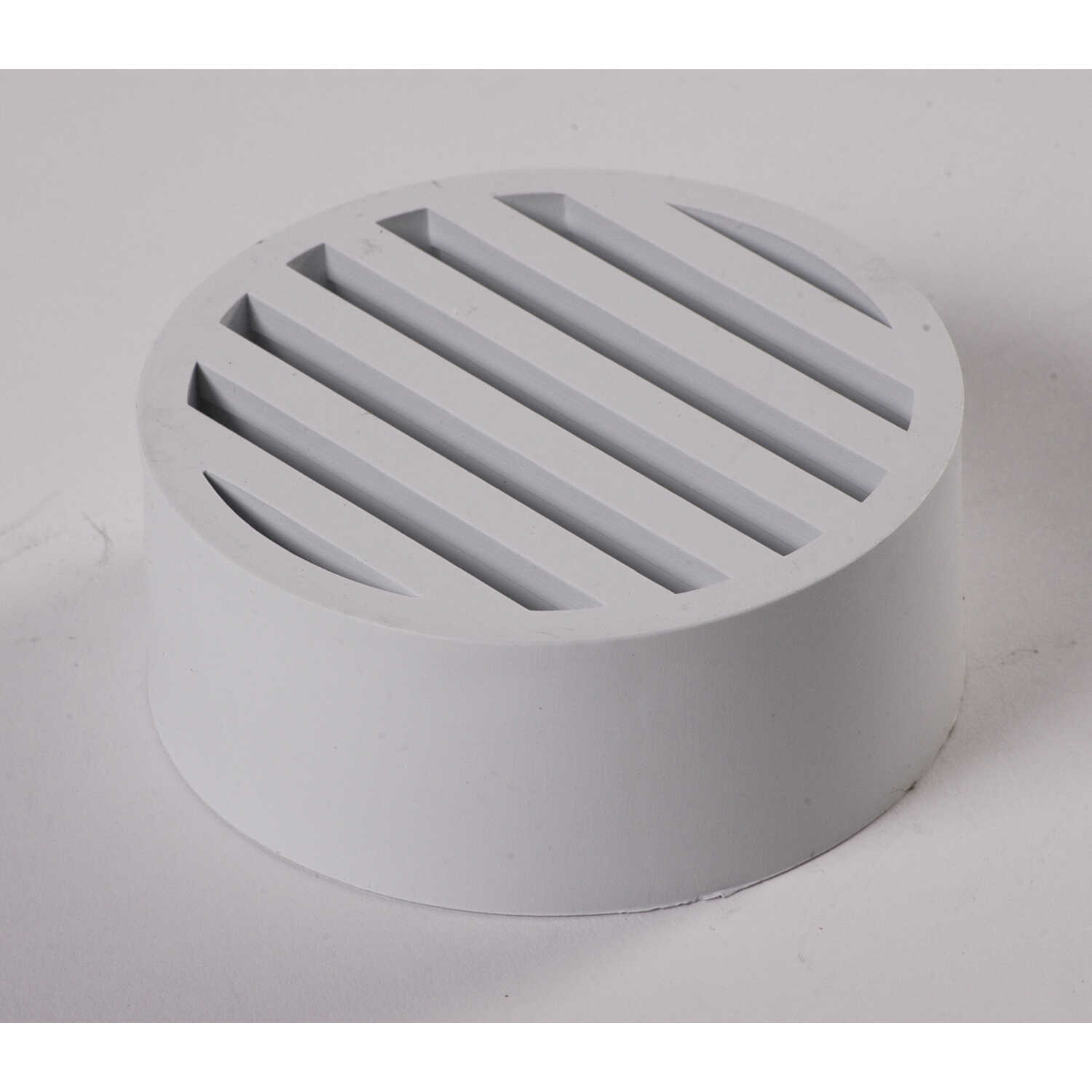 NDS  White  Plastic  Round  Drop-In Grate
