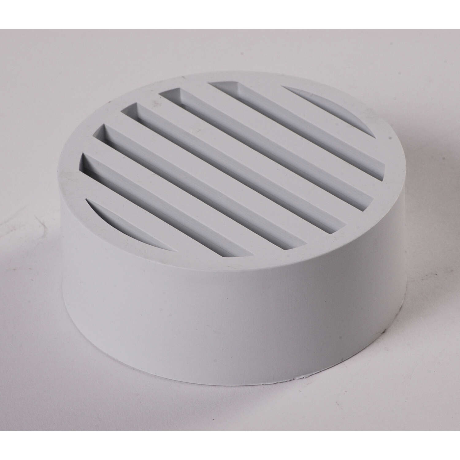 NDS  3 in. White  Round  Plastic  Drain Grate