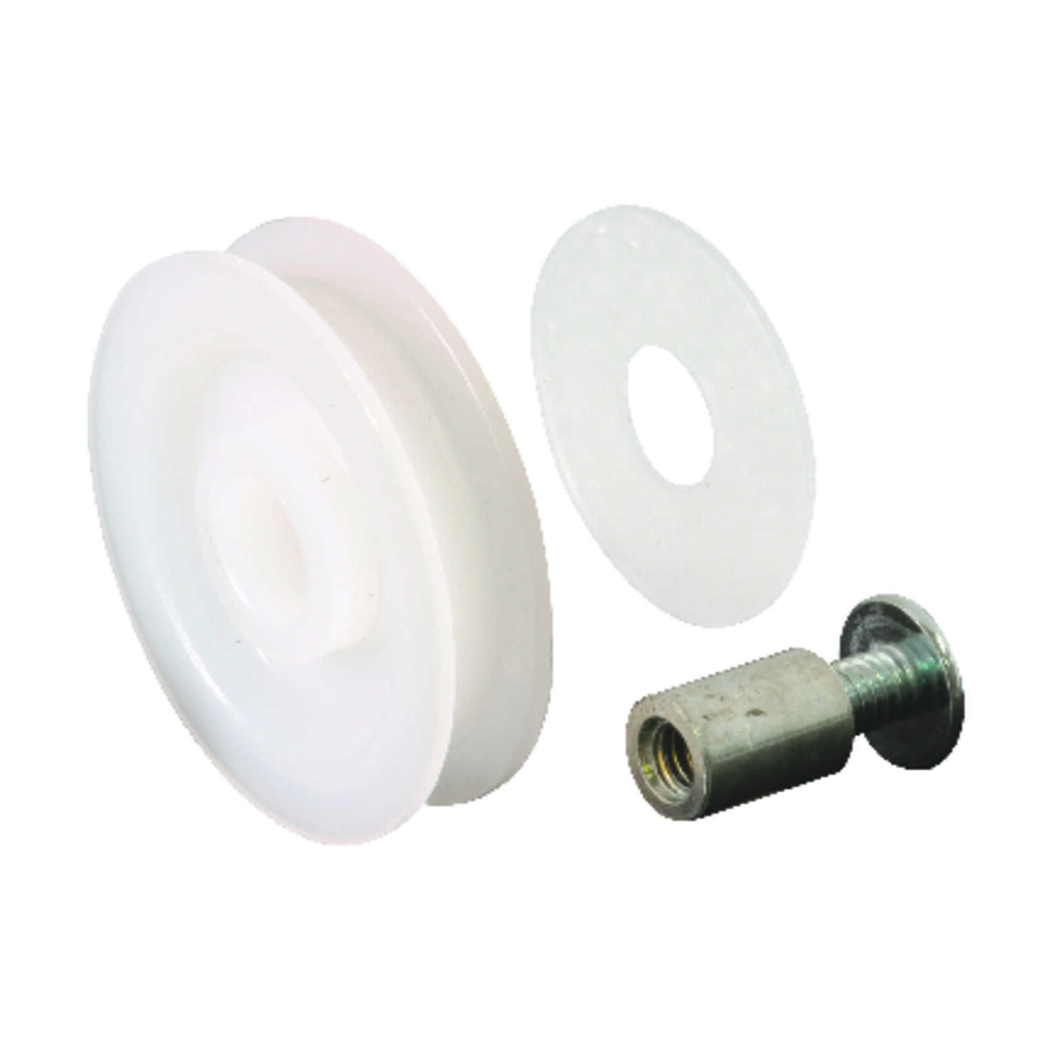 Prime-Line  1-1/4 in. Dia. x 9/32 in. L Mill  Nylon/Steel  Roller Assembly  2 pk