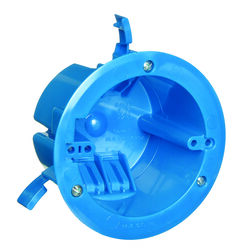Carlon 4.25 in. Round Polycarbonate 1 gang Electrical Ceiling Box Blue