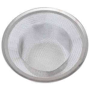 Whedon  Drain protector  4-1/2 in. Dia. Chrome  Stainless Steel  Mesh Strainer