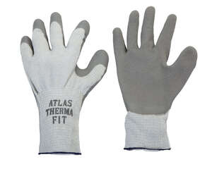 Atlas  Therma Fit  Unisex  Indoor/Outdoor  Rubber Latex  Cold Weather  Work Gloves  L  Gray