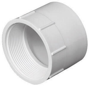 Charlotte Pipe  Schedule 40  6 in. Hub   x 6 in. Dia. FPT  PVC  Pipe Adapter