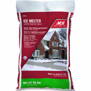 Ace  Sodium Chloride, Magnesium Chloride and MG-104  Ice Melt  40 lb. Granule