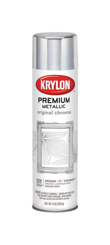 Krylon  Premium  High Gloss  Metallic Spray Paint  8 oz. Original Chrome