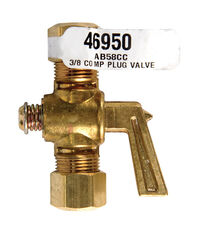 JMF  Compression in. Compression in. Brass  Plug Valve