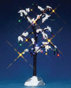 Lemax  Lighted Snowy Tree  Village Accessory  Multicolored  Resin  1 each