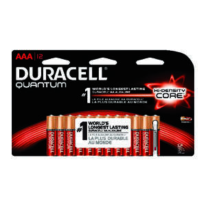 Duracell  Quantum  AAA  Alkaline  Batteries  12 pk 1.5 volts Carded