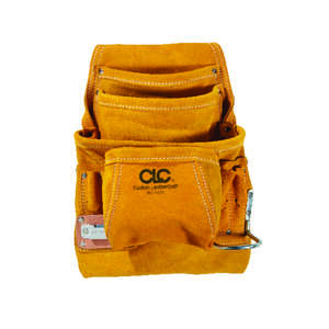 CLC Work Gear  7.75 in. W x 16 in. H Leather  Tool Pouch  10 pocket Tan  1 pc.