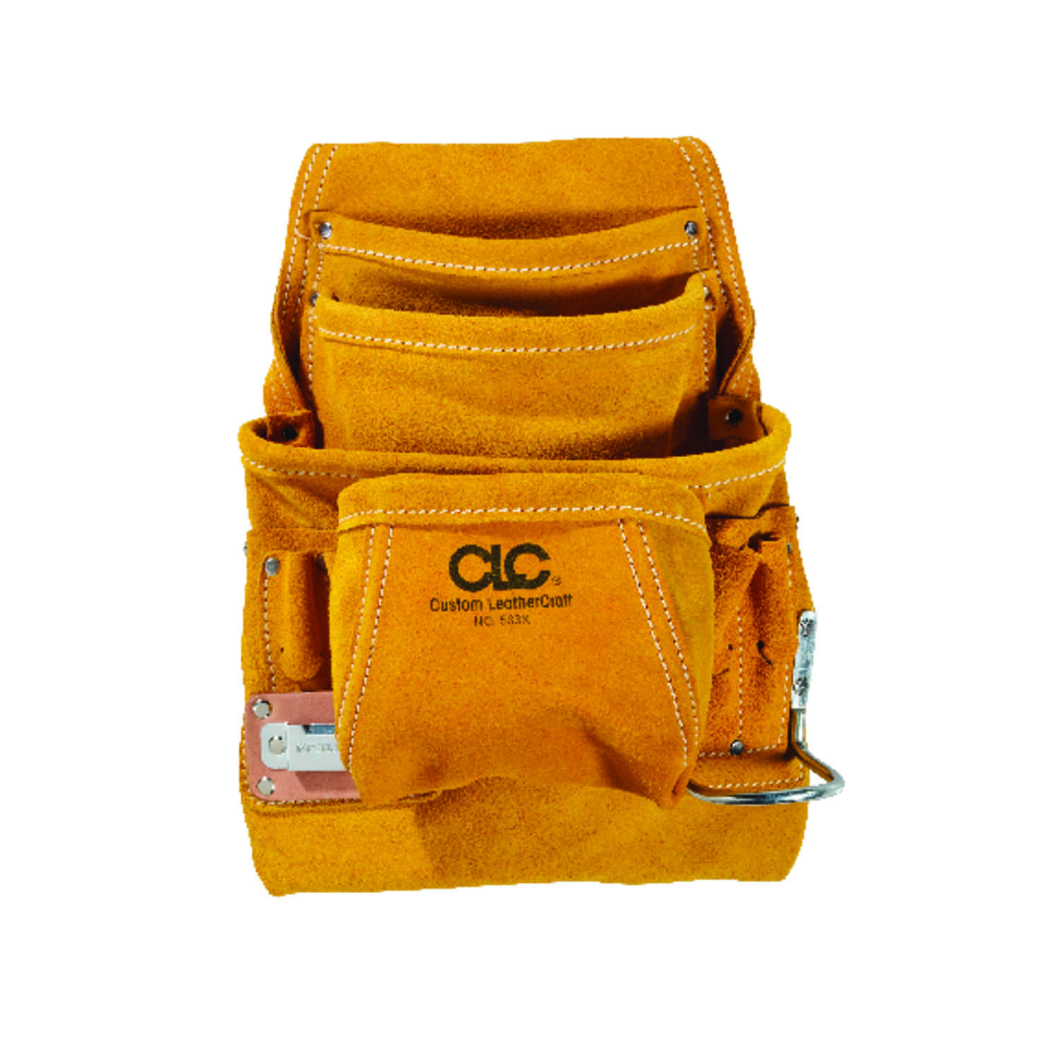CLC  7.75 in. W x 16 in. H Leather  Tool Pouch  10 pocket Tan  1 pc.