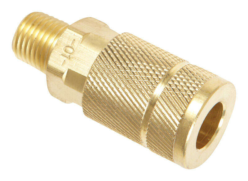 Tru-Flate  Brass  Quick Change Coupler  1/4  Male  Male  1/4 in. 1/4  1 pc. MNPT