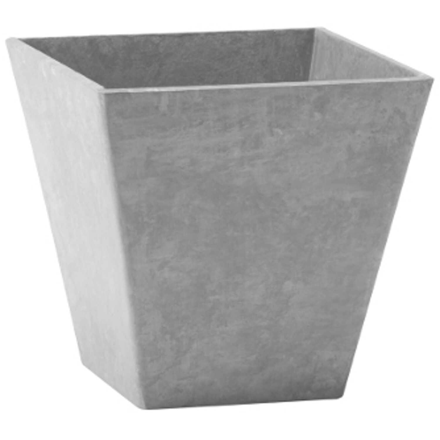 Novelty  Artstone  8 in. H x 7.81 in. W Gray  Resin/Stone Powder  Ella  Flower Pot
