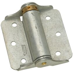 National Hardware  3 in. L Galvanized  Steel  Spring Hinge  2 pk