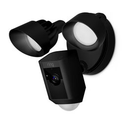 Ring  Floodlight Camera  Hardwired  Outdoor  Black  Wi-Fi Security Camera