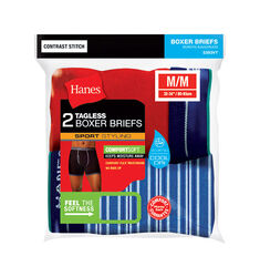 Hanes  Comfort Flex  Medium  Men's  Assorted  Boxer Briefs