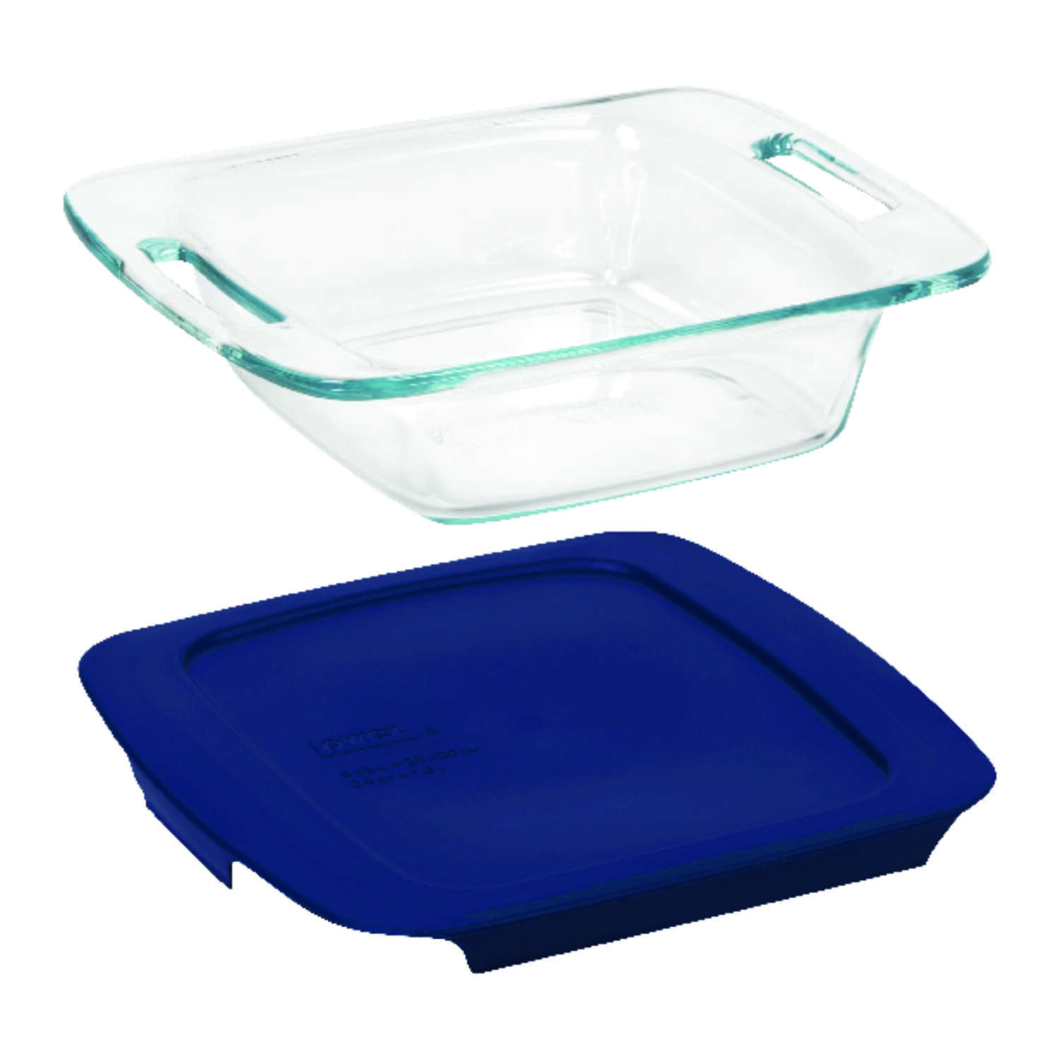 Pyrex  8 in. W x 8 in. L Baking Dish  Blue/Clear