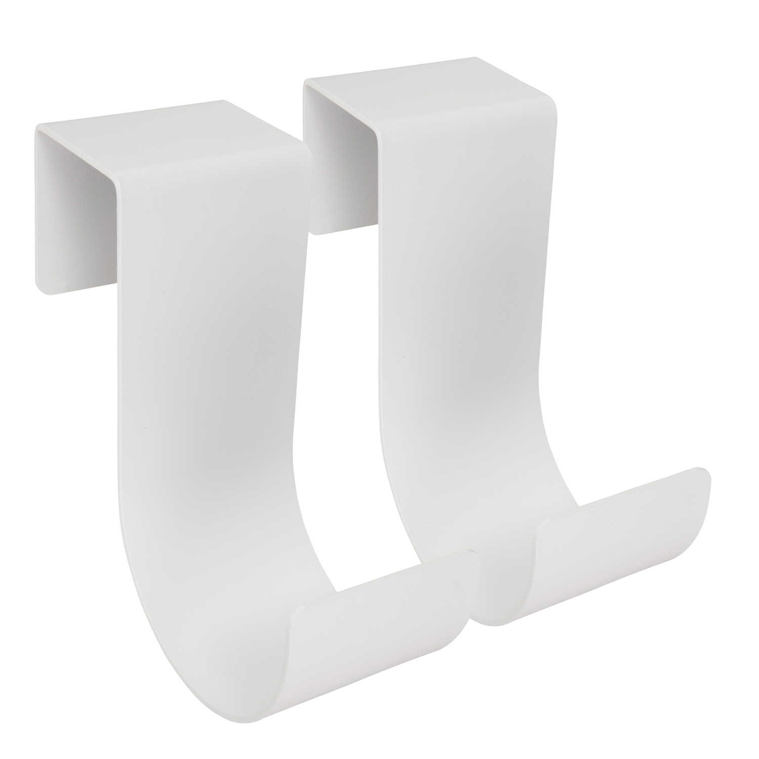 Mide Products  6 in. L Powder Coated  White  Aluminum  Short  Slip-On  Hook  25 lb. 2 pk