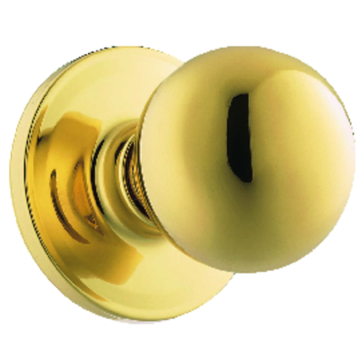 Weiser  Yukon  Polished Brass  Steel  Passage Lockset  ANSI/BHMA Grade 3  1-3/4 in.