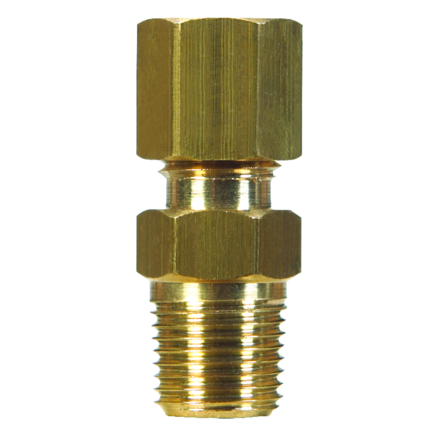 JMF  1/4 in. Dia. x 1/8 in. Dia. Brass  Compression Fitting