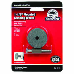 Gator  1-1/2 in. Dia. x 3/8 in. thick  x 1/4 in.   Grinding Wheel  3200 rpm 1 pc.