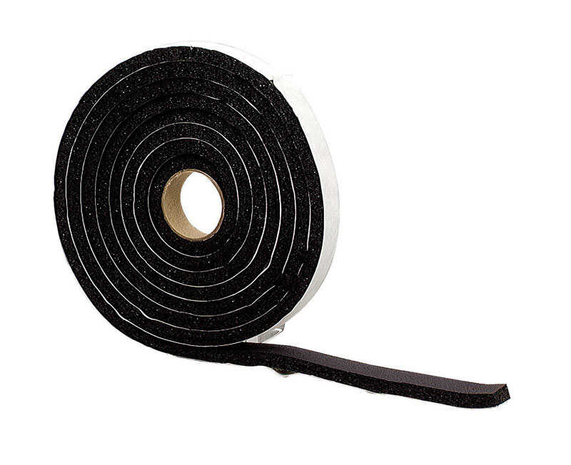 M-D Building Products  Auto and Marine  Black  Rubber  Weather Stripping  For Window 10 ft. L x 3/8
