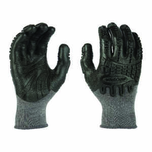 Madgrip  Thunderdome  Unisex  Rubber  Coated  Work Gloves  Black  XL