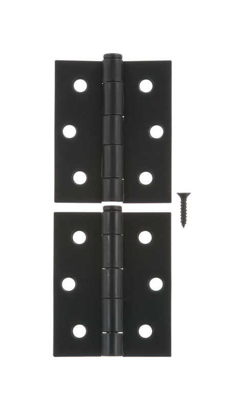 Ace  3 in. L Black  Steel  Screen/Storm Door Hinge  2 pk
